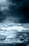 Tormenta en el océano Fotografía de archivo libre de regalías