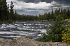 Tormenta en Fall River Imagen de archivo libre de regalías