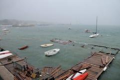Tormenta en la bahía Foto de archivo libre de regalías