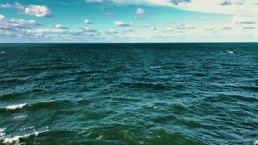 Tormenta en la bahía de Finlandia almacen de video