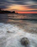 Tormenta en la orilla de mar Fotografía de archivo libre de regalías