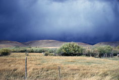 Tormenta en la Pampa Imagenes de archivo