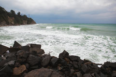 Tormenta en la playa fotografía de archivo