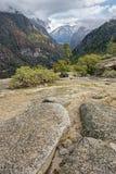 Tormenta entrante en el valle de yosemite Imagenes de archivo