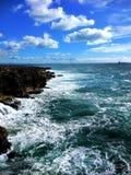 Tormenta hermosa del océano fotografía de archivo libre de regalías