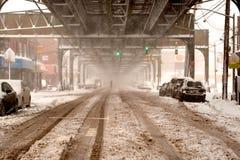 Tormenta Niko de la nieve en New York City el 9 de febrero de 2017 Imagen de archivo