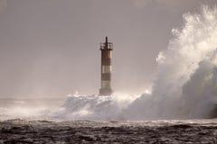 Tormenta perfecta, la onda Fotografía de archivo