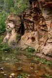 Tormenta que forma sobre la roca roja Sedon Imágenes de archivo libres de regalías