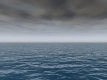 Tormenta que viene sobre el mar ilustración del vector