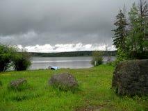 Tormenta sobre el lago escénico Imagen de archivo