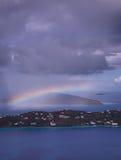 Tormenta sobre la bahía de Magens en St Thomas USVI Fotos de archivo