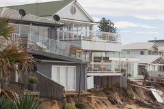 Tormenta y casas dañadas agua imagen de archivo libre de regalías
