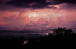 Tormentas de noche Foto de archivo libre de regalías