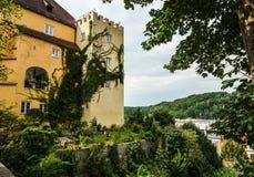 Torn över Wasserburg royaltyfri foto