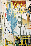 Torn advertisement posters. May be used asbackground Royalty Free Stock Photography