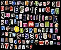 Torn alphabet Royalty Free Stock Photos
