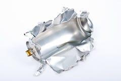 Torn aluminum can Stock Photos
