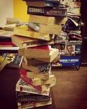 Torn av böcker royaltyfria foton