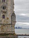 Torn av Belem i Lissabon Arkivbilder