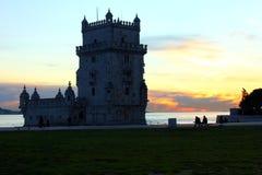 Torn av Belem, Lisbon, Portugal Royaltyfria Bilder