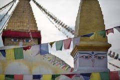 Torn av Boudhanath Stupa Arkivbild