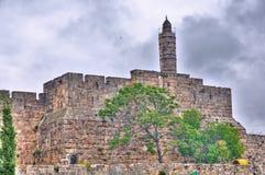 Torn av David, Jerusalem Israel Arkivfoto