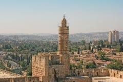 Torn av David, Jerusalem, Israel Arkivbilder