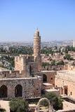 Torn av David, ottomanminaret, Israel Royaltyfri Foto