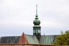 Torn av den Augustinian abbotskloster av St Thomas, Brno Arkivfoto