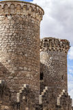 Torn av den Belmonte slotten, Spanien Arkivfoton