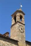 Torn av den Bibbona kyrkan, Tuscany, Italien Royaltyfri Foto