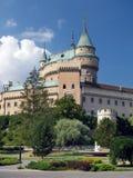 Torn av den Bojnice slotten, Slovakien Arkivbild