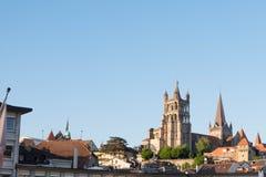 Torn av den Lausanne domkyrkan Royaltyfria Foton