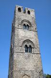 Torn av den medeltida katolska kyrkan Chiesa Matrice i Erice. Arkivbilder