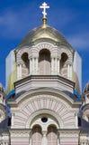 Torn av den ortodoxa domkyrkan i Riga Arkivfoton