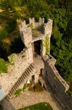 Torn av den Vezio slotten i Varenna, sjö Como arkivfoton