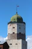 Torn av den Vyborg slotten Royaltyfri Foto