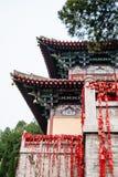 Torn av den Xiangshan templet på den östliga kullen i Longmen Arkivbilder
