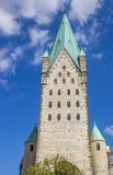 Torn av Dom-kyrkan av Paderborn Royaltyfri Bild