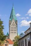 Torn av Dom-kyrkan av Paderborn Arkivfoto
