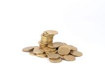 Torn av euromynt Arkivfoto