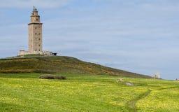 Torn av Hercules, en Coruña, Spanien Royaltyfri Bild