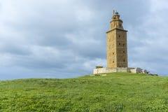 Torn av Hercules i en Coruna, Galicia, Spanien Royaltyfria Bilder