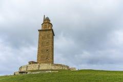 Torn av Hercules i en Coruna, Galicia, Spanien Arkivbilder