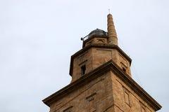Torn av Hercules, närbild av fyren Royaltyfri Fotografi