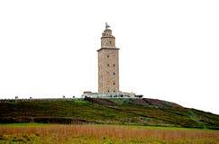 Torn av Hercules, världsarv Royaltyfri Foto