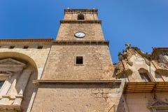 Torn av kyrkan av Ayora Fotografering för Bildbyråer