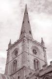 Torn av kyrkan för helig Treenighet; Stratford Upon Avon Arkivbild