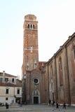 Torn av kyrkan i Venedig Arkivfoton