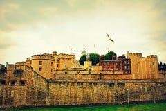 Torn av London horisont England Förenade kungariket Arkivfoto